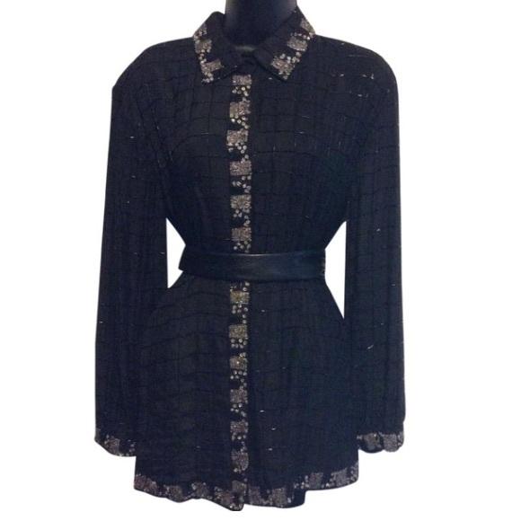 Midnight Run Dresses & Skirts - Midnight Run Vintage Beaded Shirt Dress